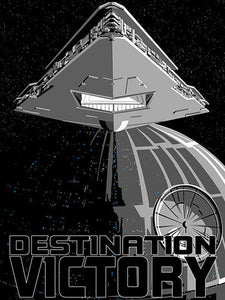 Star Wars - Destination Victory by Masey; silk screen limited edition art on paper