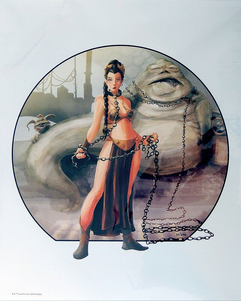 Star Wars - Imprisoned by Penelope Gaylord; litograph edition art on paper