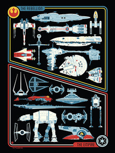 Star Wars - Transports by Dave Perillo; silk screen limited edition art on paper