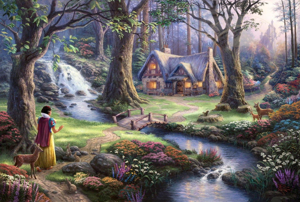Snow White Discovers the Cottage