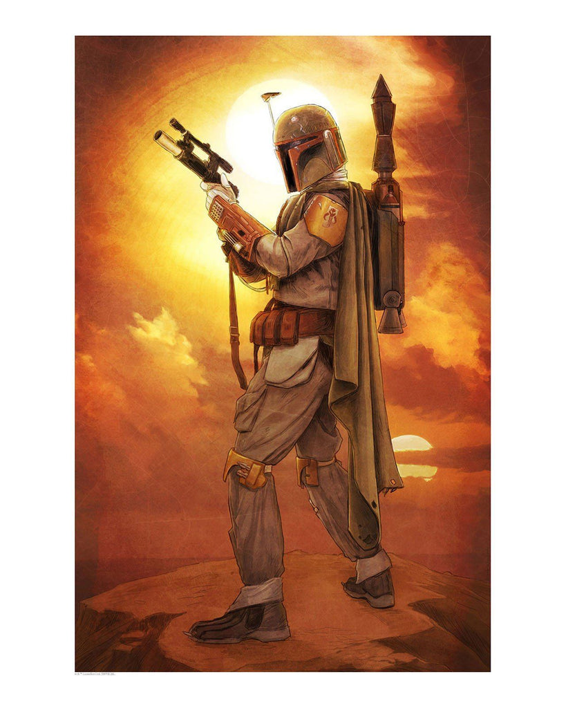 Star Wars - Su Cuy'gar by Brent Woodside; lithograph art on paper