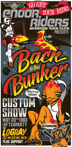 Star Wars - Back to the Bunker by Mark Daniels; silk screen limited edition art on paper