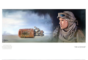 Star Wars: The Force Awakens - The Scavenger by Brian Rood; giclee art on paper