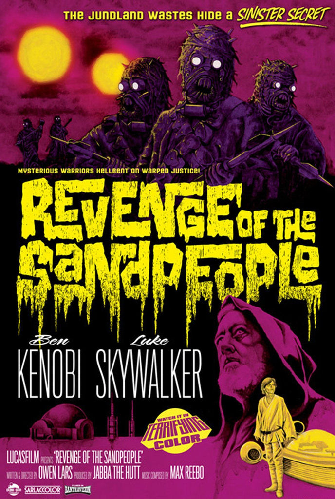 Star Wars - Revenge of the Sandpeople by Mark Daniels; lithograph limited edition art on paper