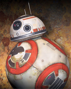 Star Wars The Force Awakens - BB-8 by Kevin Graham; giclee limited edition art on canvas