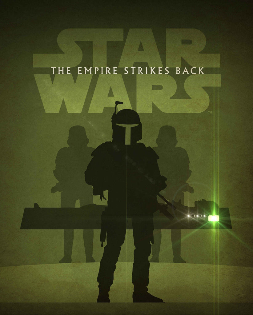 Star Wars - The Empire Strikes Back by Jason Christman; lithograph art on paper