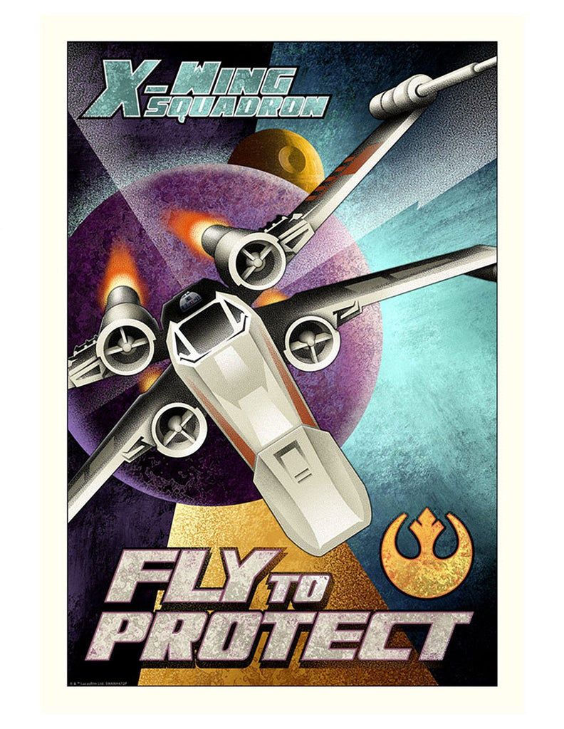Star Wars - Fly to Protect by Mike Kungl; giclee limited edition art on paper