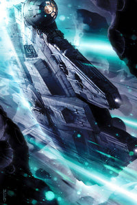 Star Wars - Gambler's Rush by Raymond Swanland; giclee limited edition art on canvas