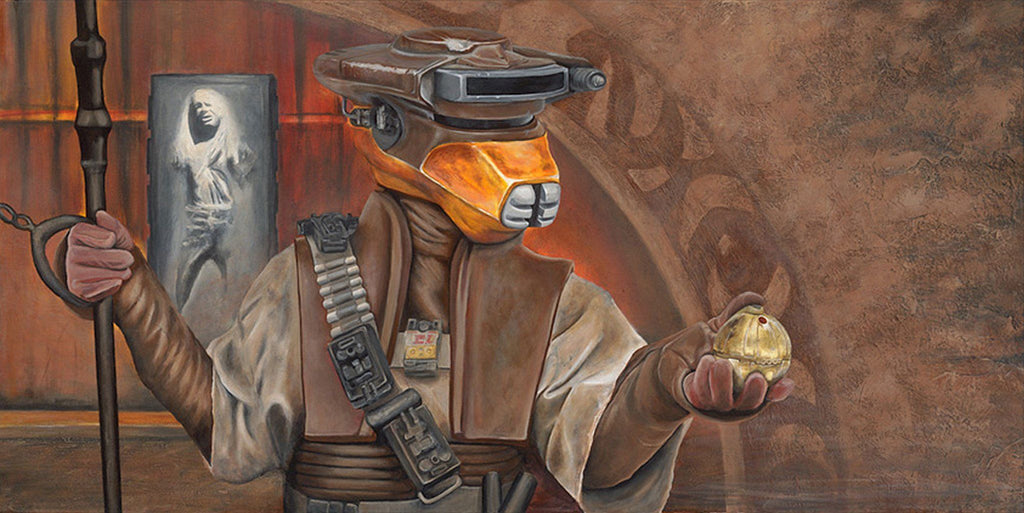 Star Wars - Infiltrator by Greg Lipton; giclee edition art on canvas
