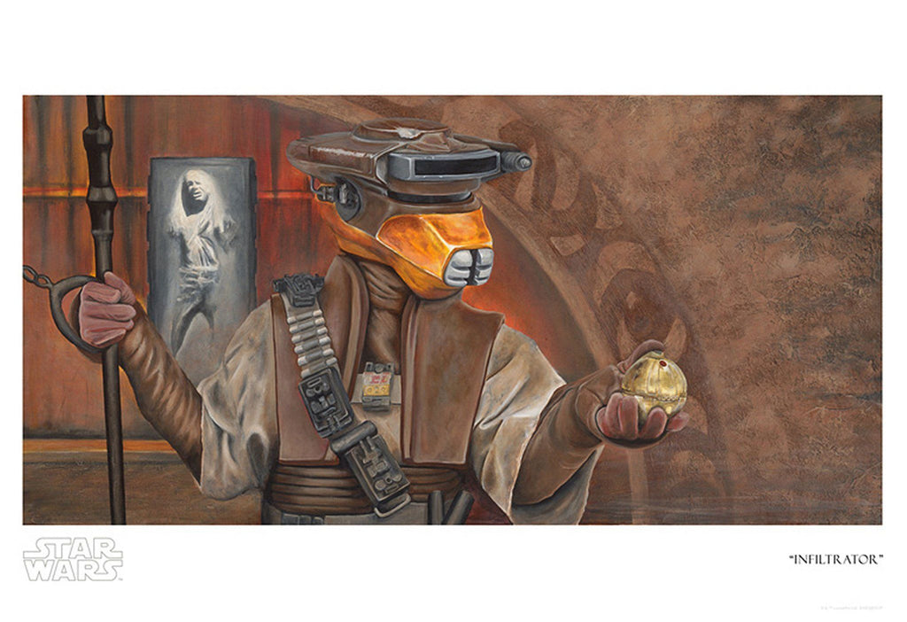 Star Wars - Infiltrator by Greg Lipton; giclee edition art on paper