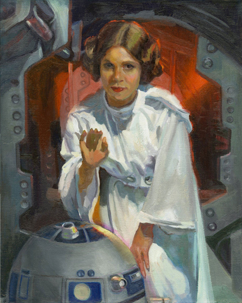 Star Wars - My Only Hope by C. M. Cooper giclee limited edition art on canvas