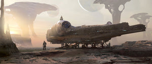 Star Wars - Smuggler's Rendevous by Stephan Martiniere; giclee art on canvas