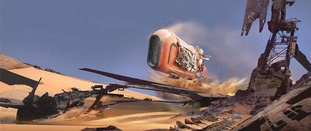 Star Wars The Force Awakens - Speeder Whip by Stephan Martiniere; giclee art on canvas