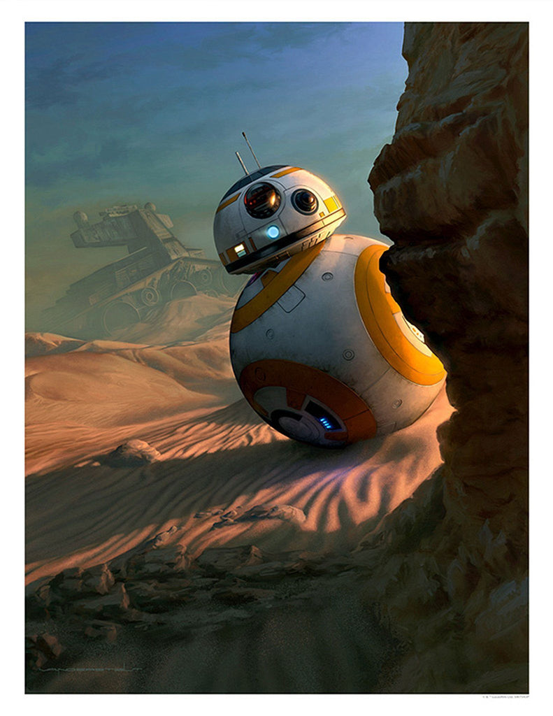 Star Wars The Force Awakens - Sunset Vigil by Jerry Vanderstelt; giclee art on paper