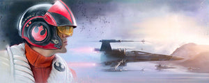 Star Wars The Force Awakens - The Pilot by Brian Rood; giclee art on canvas