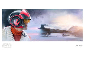 Star Wars The Force Awakens - The Pilot by Brian Rood; giclee art on paper
