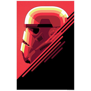 Star Wars - The Stormtrooper by Craig Drake; silk screen art on paper