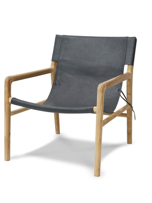 Brooklyn Sling Back Chair-Dark Grey
