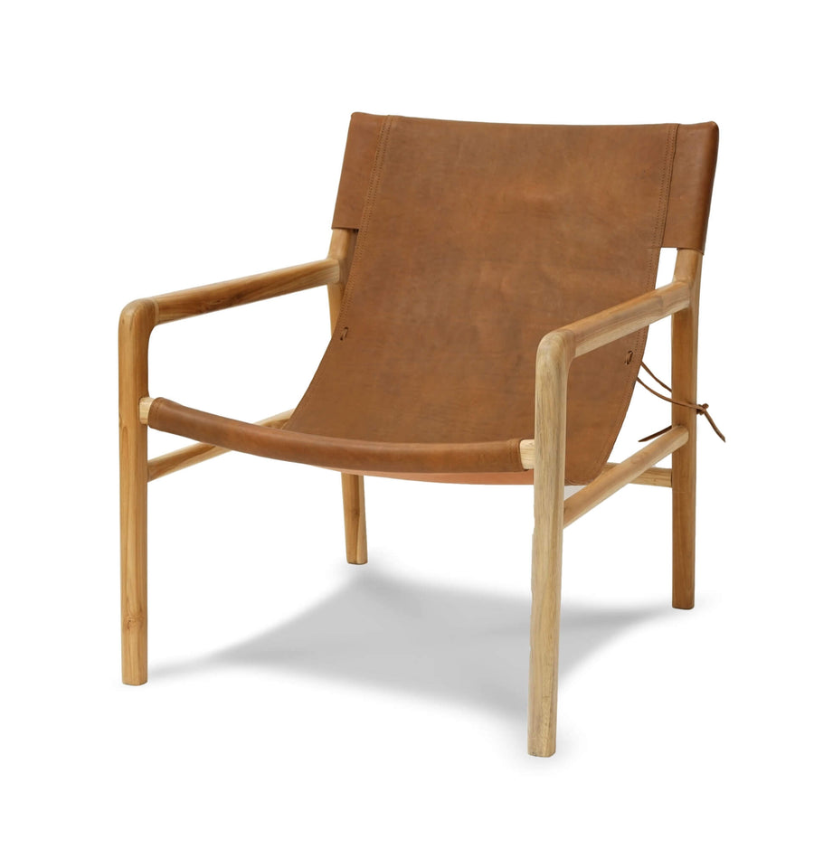 Brooklyn Sling Back Chair-Tan Leather