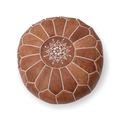 Parachute Ottoman–Light Brown