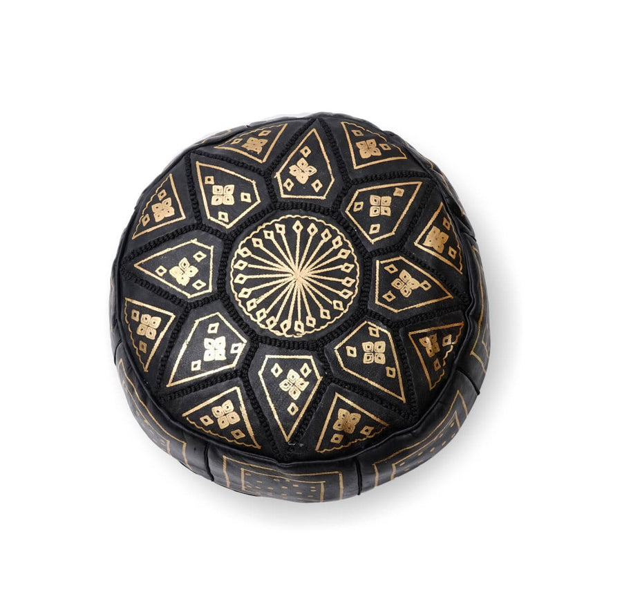 Small Star Ottoman-Black