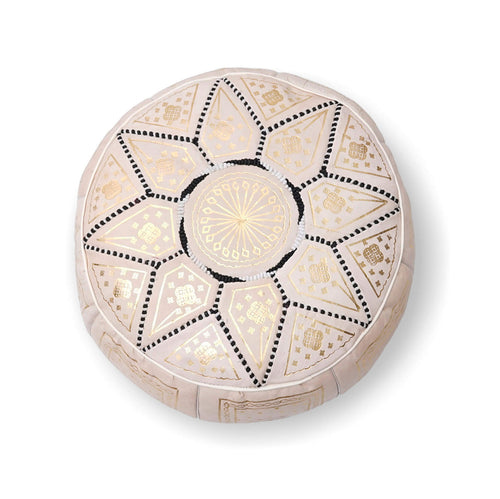 Large Star Ottoman-Cream