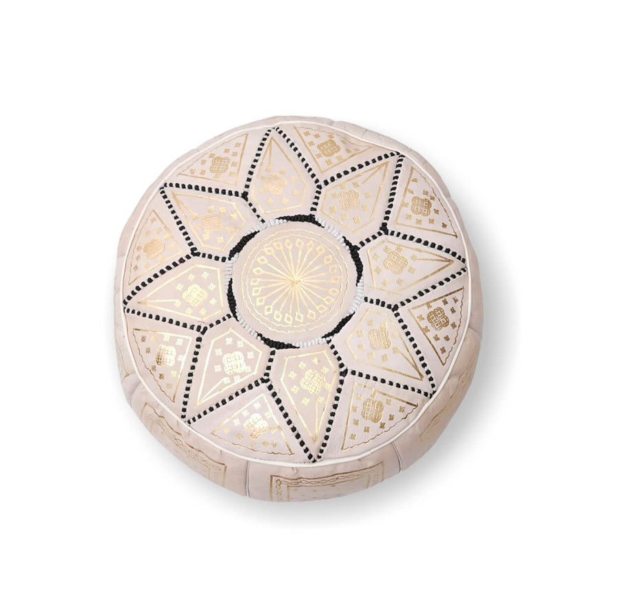 Small Star Ottoman-Cream