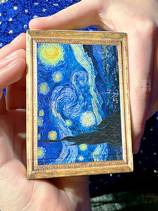 Vincent van Gogh The Starry Night Gold Gilded