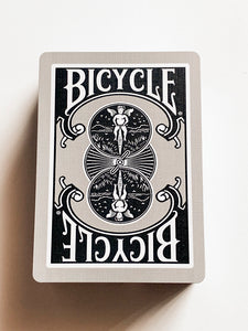 Bicycle 1128 Silver and Black (opened)