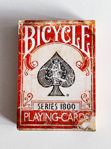 Bicycle Vintage Series 1800 Red (opened)