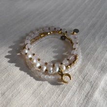 "Load image into Gallery viewer, ""Amala"" Crescent moon bracelet"