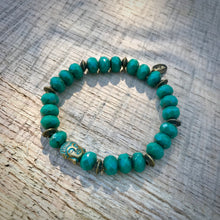 Load image into Gallery viewer, Parici Turquoise Buddha Bracelet