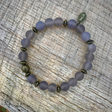 Load image into Gallery viewer, Grey Agate Stacking Bracelet
