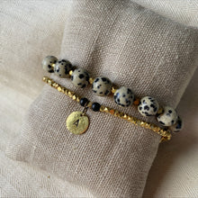 Load image into Gallery viewer, Skinny Brass Initial Nugget Bracelet
