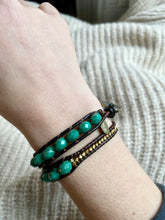 Load image into Gallery viewer, Parici Turquoise Wrap Bracelet