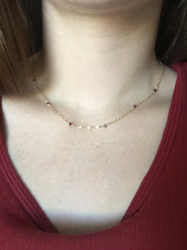 Ruby & Gold Necklace