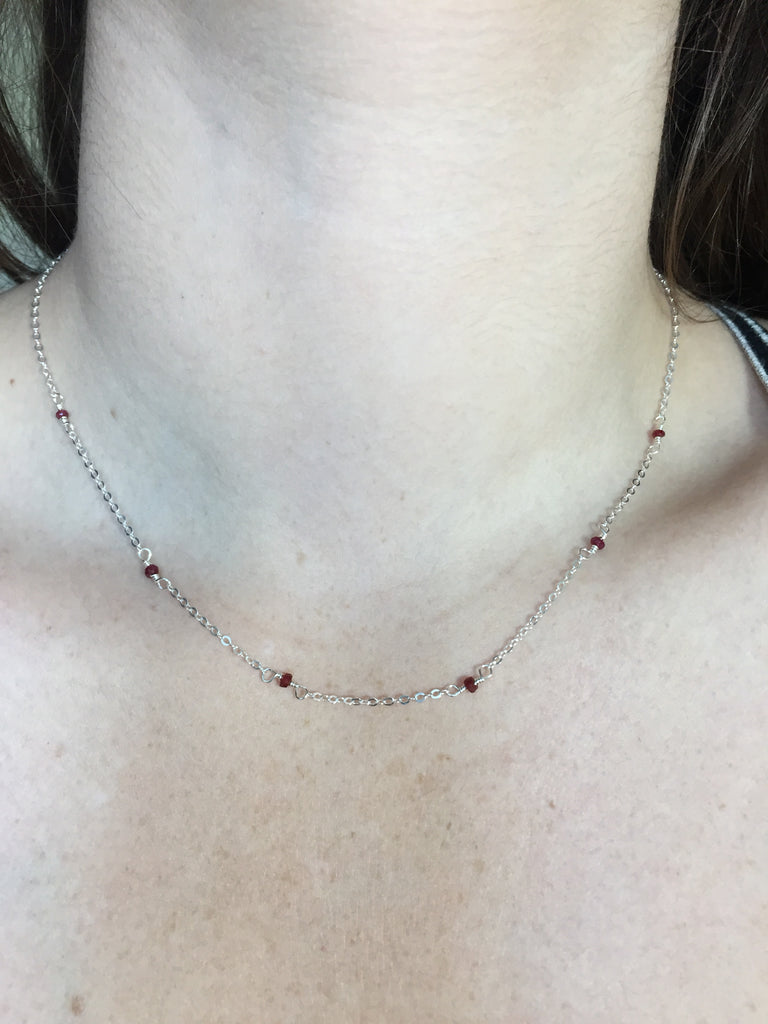 Ruby & Silver Necklace
