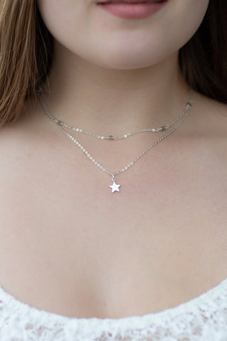 Stargazer Necklace Silver