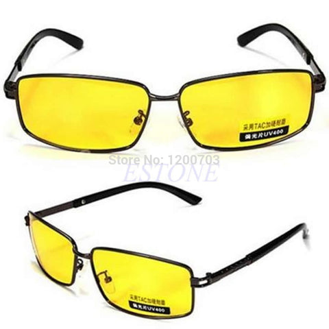 New Yellow Lens Polarized Sunglasses Night Vision Driving Eyewear Glasses UV 400 New