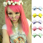 Women Vintage Colorful Lens Sunglasses Eyewear Plastic Frame Glasses Retro Round Glasses oculos de sol