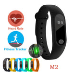 M2 Smart Bracelet Watch Waterproof Sport Heart Rate Monitor Smartband Pedometer Calories Sleep Tracker Bluetooth Smart Watch