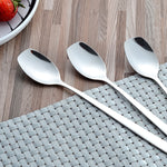 304 Stainless Steel Flat Head Ice Spoon With Long Handles
