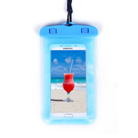 Universal Waterproof Phone Pouch with Sensitive and Transparent Screen Dustproof Snowproof Shockproof Cell Phone Dry Bag for Smartphone under 6 Inches