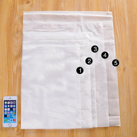 Travel Clothes Storage Bag Scrub Self - Sealing Bag Waterproof Package Translucent Bag 1 Pcs 22 Wire Trick Storage Bags