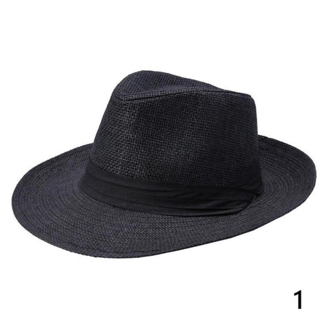 Summer sun mens folding sun hat outdoor sun hat beach hat big straw hat