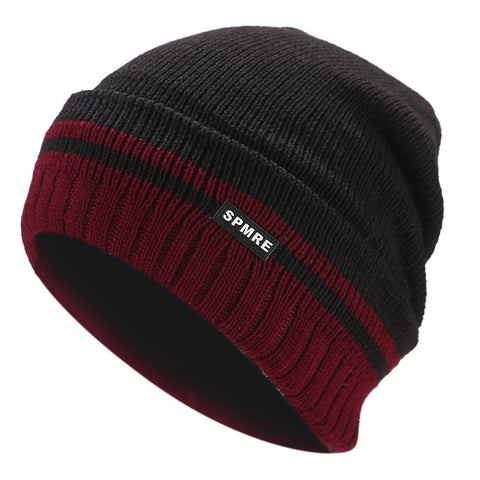 2018 Winter Knitted Beanie For Men Fleece Hat Women Warm Caps Casual Skullies Beanies Thicken Hats Sports Skiing Wool Baggy Cap