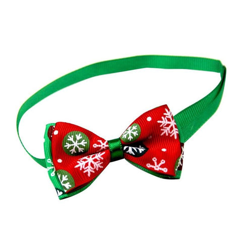 Adjustable Pet Dog Puppy Cat Bow Tie Collar Christmas Decoration Pet Accessory