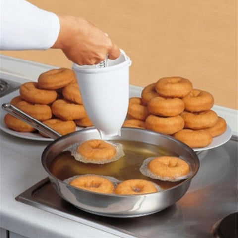 Plastic Donut Maker Dispenser Deep Fry Donut Mould Easy Fast Portable Arabic Waffle Doughnut Kitchen Gadget