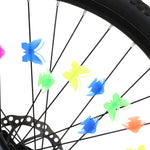 Bike Spoke Decoration Kids Bike Fun Colorful Spoke Decorations Attachments Assorted Bike Bicycle Cycling Wheel Spoke Decorative Fish Butterfly