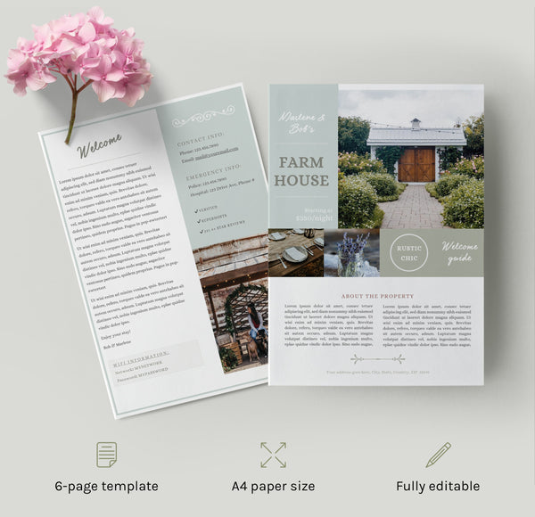 The Savannah – Home Rental Welcome Book Template